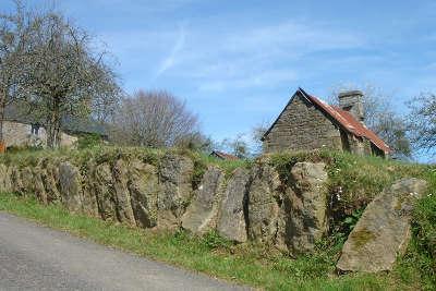 Alignement de palets sur la route du granit calvados guide touristique normandie