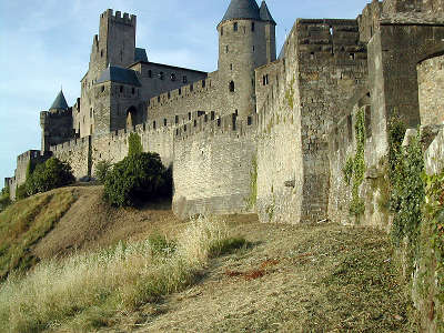 Carcassonne parcours touristique en languedoc roussillon
