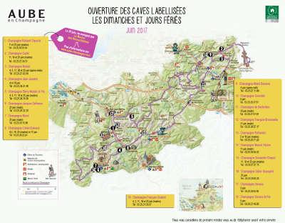 Carte de la routes touristiques du champagne