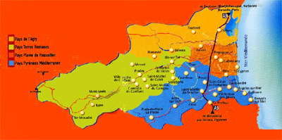 Carte route en terre catalane