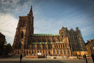 Cathedrale notre dame de strasbourg facade sud guide du tourisme du bas rhin alsace