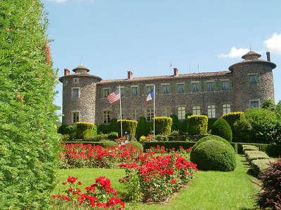 Chateaux et parc du chateau de chavaniac jardins remarquables routes touristiques de haute loire guide touristique auvergne