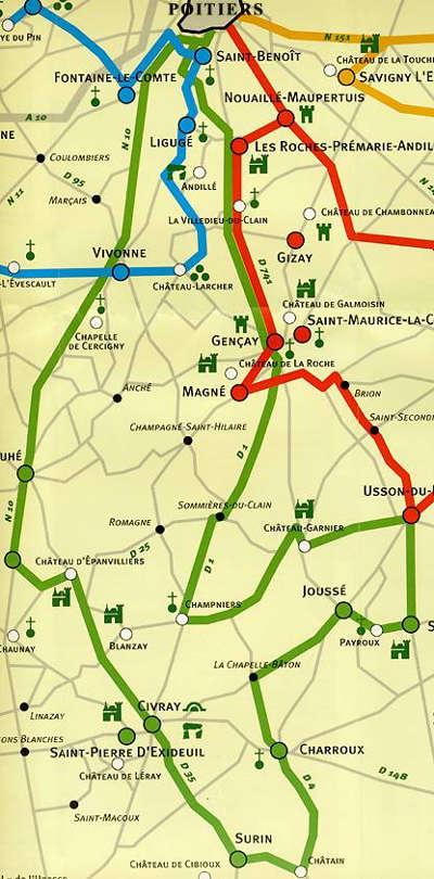 Circuit charlemagne route des abbayes et monuments du haut poitou guide du tourisme de la vienne