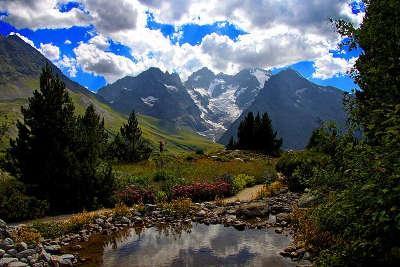 Col lautaret parcours touristique en rhone alpes
