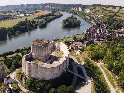 Le chateau gaillard route touristique en normandie