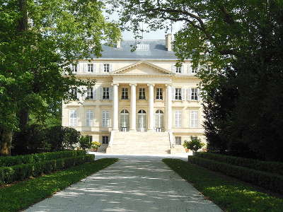 Le chateau margaux route du vin du medoc route des vins de bordeaux route des chateaux guide du tourisme de la gironde aquitaine