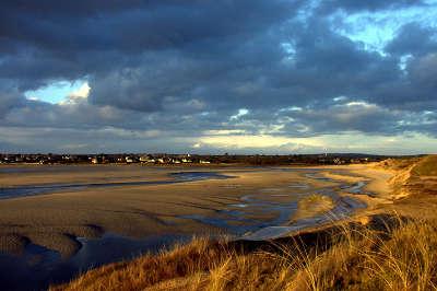 Le havre de portbail vu des dunes de lindbergh route des havre cotentin routes touristiques dans la manche guide du tourisme normandie