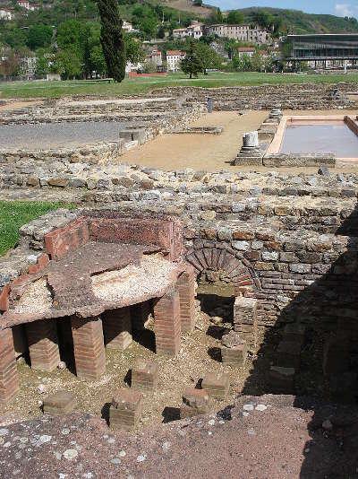 Les vestiges gallo romains de saint romain en gal route des vins des cotes du rhone