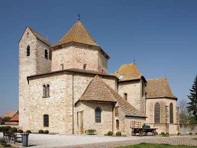Ottmarsheim abbatiale romane d ottmarsheim route du rhin guide touristique du haut rhin alsace