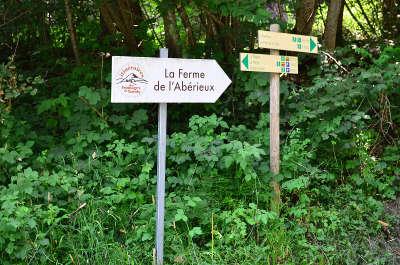 Panneaux la route des fromages de savoie