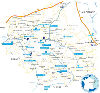 Plan de la route de la Carpe Frite