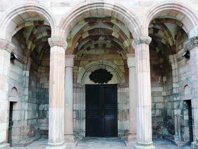 Porche de la collegiale de lautenbach route romane d alsace guide touristique