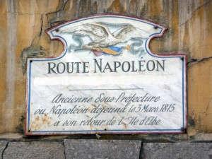 Route napoleon panneau castellane alpes de haute provence route touristique