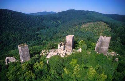 Ruines des 3 chateaux route des 5 chateaux guide touristique du haut rhin alsace