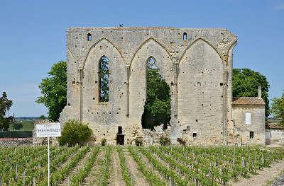 Saint emilion vestiges de l ancienne eglise du couvent des dominicains routes touristiques en gironde guide du tourisme nouvelle aquitaine