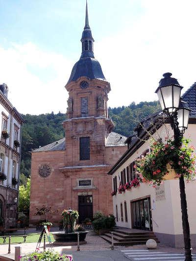 Schirmeck eglise saint georges route des vosges centrales guide du tourisme du bas rhin alsace