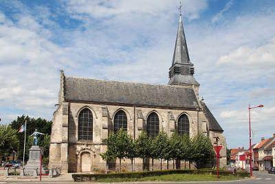 Aix noulette l eglise saint germain de type hallekerque touristiques du pas de calais guide touristique nord pas de calais