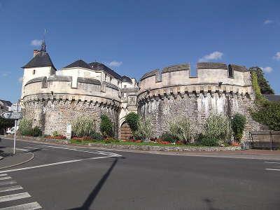 Ancenis le chateau vue sur la loire routes touristiques de loire atlantique guide du tourisme du pays de la loire