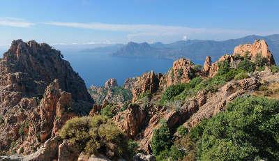 Calanques de piana route touristique de bastia a ajaccio guide du tourisme de haute corse