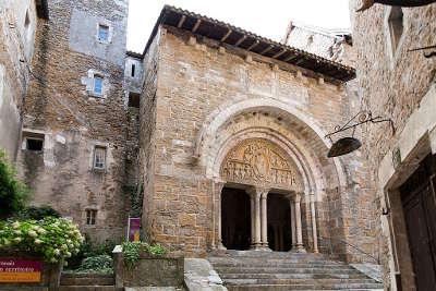 Carennac plus beau village tympan de l eglise saint pierre routes touristiques du lot guide touristique midi pyrenees