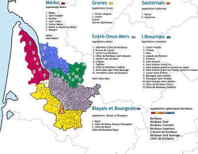 Carte Route Des Vins Bordeaux.La Route Des Vins De Bordeaux