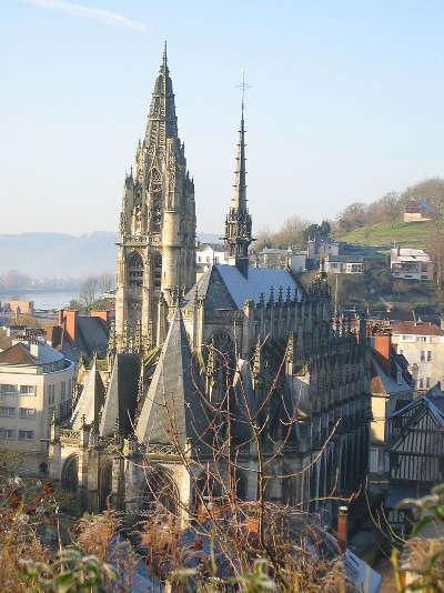 Caudebec en caux eglise routes touristiques de seine maritime guide du tourisme de haute normandie