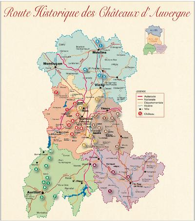 les routes touristiques et historiques