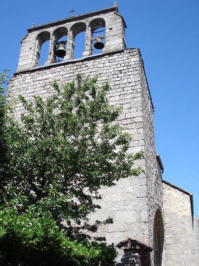 Genolhac clocher mur de l eglise routes touristiques du gard guide du tourisme du languedoc roussillon