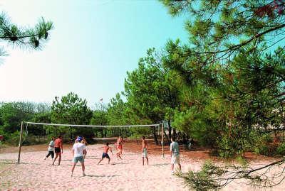Lacanau volley residence la forestiere route touristique aquitaine