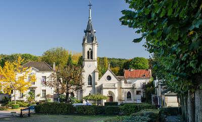 Montlignon l eglise et la mairie routes touristiques du val d oise guide du tourisme d ile de france