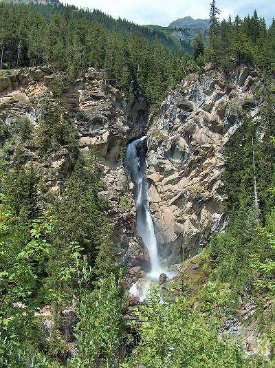 Pralognan la vanoise cascade de la fraiche routes touristiques de savoie guide touristique de rhone alpes