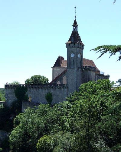 Rocamadour cite medievale grand site de france le chateau de rocamadour reconstruit au xixe siecle routes touristiques du lot guide touristique midi pyrenees