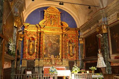 Saint martin vesubie autel de la chapelle des penitents blancs routes touristique des alpes maritimes guide du tourisme provence alpes cote d azur