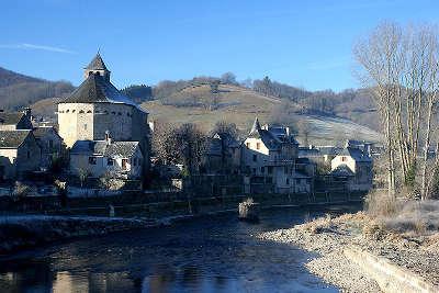 Sainte eulalie d olt plus beaux villages de france vue du village routes touristiques de aveyron guide du tourisme midi pyrenees