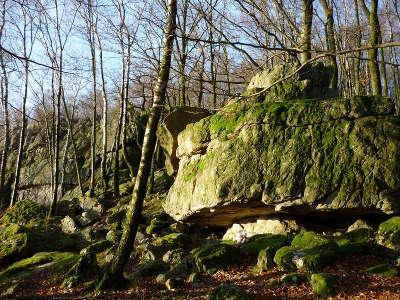 Vestiges du chateau roc la tour routes touristiques dans les ardennes guide du tourisme